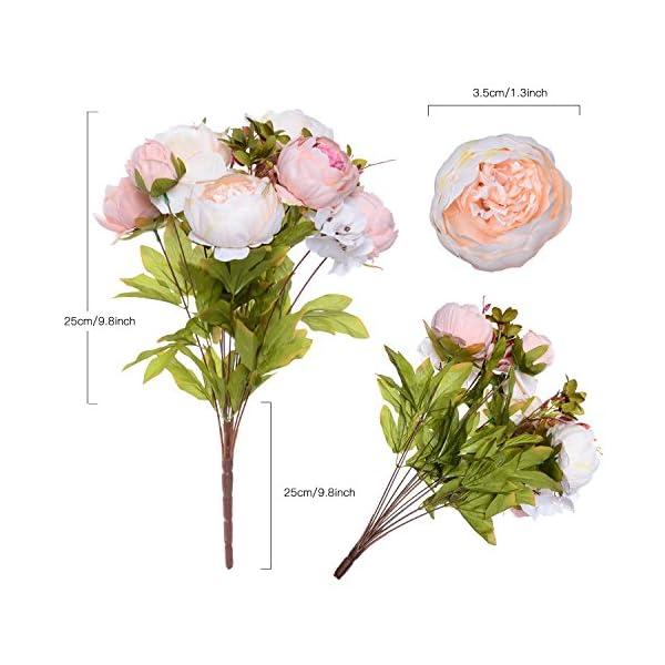 Artiflr-2-Pack-Artificial-Peony-Wedding-Flower-Bush-Bouquet-Vintage-Peony-Silk-Flowers-for-Home-Kitchen-Wreath-Wedding-Centerpiece-DecorLight-Pink