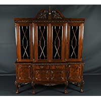 Chippendale Mahogany Breakfront China Cabinet