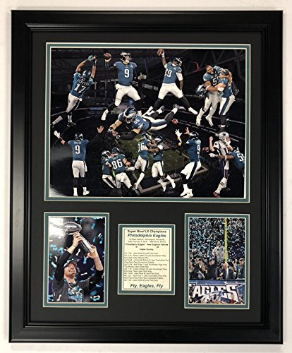 Legends Never Die NFL Philadelphia Eagles Super Bowl 52 Champions Framed Photo Collage, Team Color, 18 x 22 -