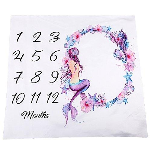 Kasla Baby Monthly Milestone Blanket, Premium Polyester Cotton Large 39