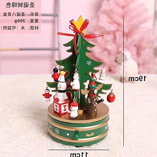 Willower Karusselloktavenkasten-Kuchendekoration Weihnachtsdekorationen Weihnachtsbaum-Spieluhr hölzerne, Weihnachtsbaumgrün B07M9NRG41 Spieluhren Bevorzugtes Material | Beliebte Empfehlung