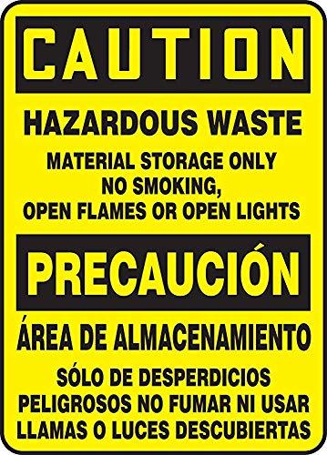 Aluminum Spanish Bilingual Sign, Legend