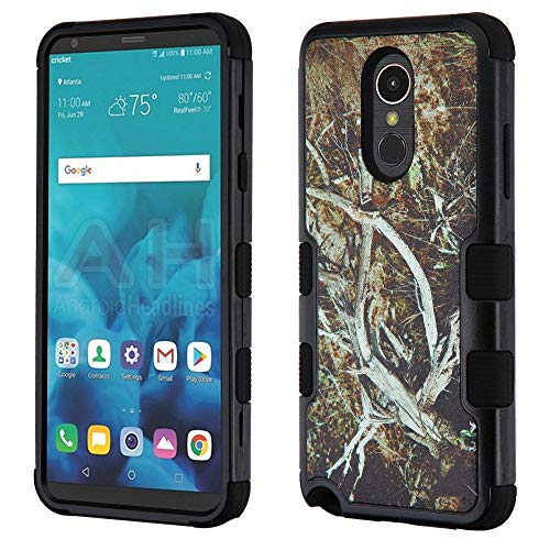 TUFF Camo Series Compatible with LG Stylo 4+ Plus, LG Stylo 4 Rugged Military Grade Drop Tested Armor Case - Tree Vine Camo