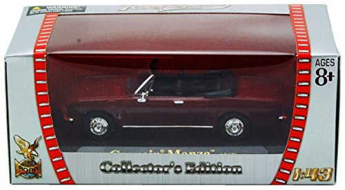 1969 Chevrolet Corvair Monza Convertible 1:43 Scale Diecast Burgundy 94241