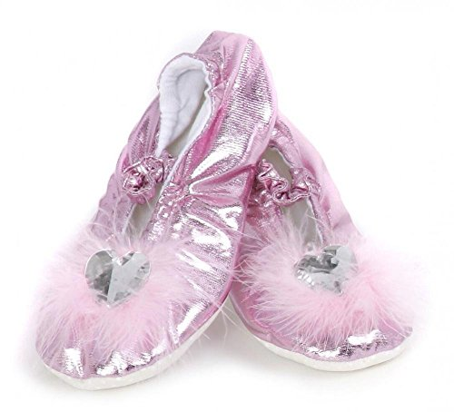 Slippers Costume Heart Princess (Creative Education's Pink Princess Slippers Size Large)
