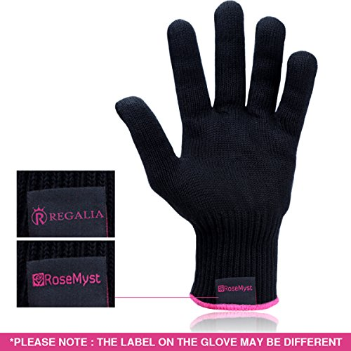 RoseMyst Professional Heat Resistant Glove for Hair Styling Heat Blocking for Curling, Flat Iron and Curling Wand Suitable for Left and Right Hands (Heat Glove Hair compare prices)