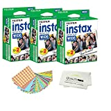 Fujifilm INSTAX Wide Instant Film 60 Pack - 60 Sheets - (White) for Fujifilm Instax Wide Cameras + Frame Stickers and Microfiber Cloth Accessories