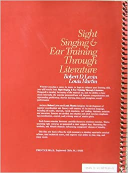 manual for ear training and sight singing listening
