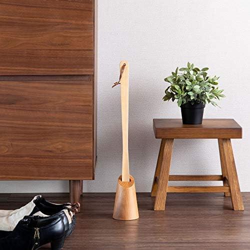 ISSEIKI 靴ベラ (ナチュラル) デコラ DECORA KUTSUBERA (AL-NA) アルダー材 木製 革靴 スーツ ナチュラル