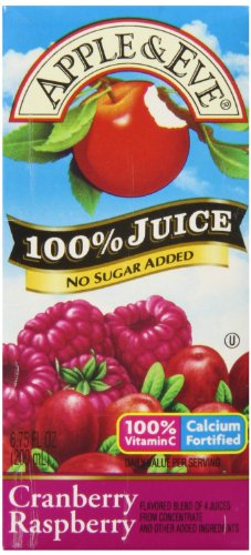Apple & Eve 100% Cranberry Raspberry Juice, 6.75 fl oz,40 count