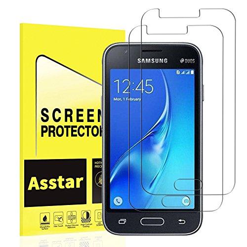 Samsung Galaxy J1 (2016) Tempered Glass Screen Protector, Asstar Thin Premium Real Glass Screen Protector Galaxy J1 / Amp 2 / Express 3 (2-Pack)