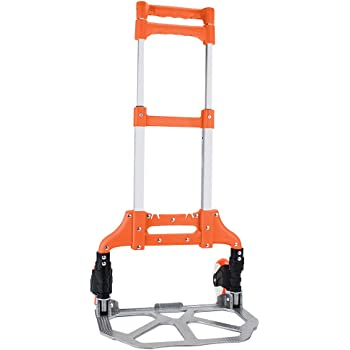 b6dcbca6d575 Portable Folding Luggage Cart with 6 Wheels and 2 Free Rope Upgrade ...