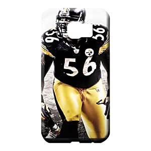 samsung galaxy s6 edge Strong Protect Plastic Protective Stylish Cases phone cover skin pittsburgh steelers nfl football