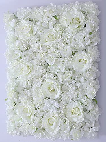 Silk Hydrangea Rose Flower Wall Panel Home Wedding Backdrop DIY House Room Decor