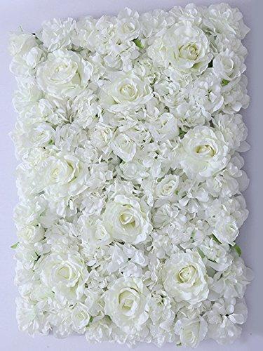Amazon yizhihua 40x60cm artificial silk rose flower wall yizhihua 40x60cm artificial silk rose flower wall decoration decorative silk hydrangea wedding decoration backdrop milk mightylinksfo