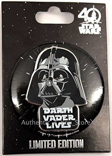 n Orlando 2017 Disney DARTH VADER LIVES Limited Edition Pin and Button (Darth Vader Life)