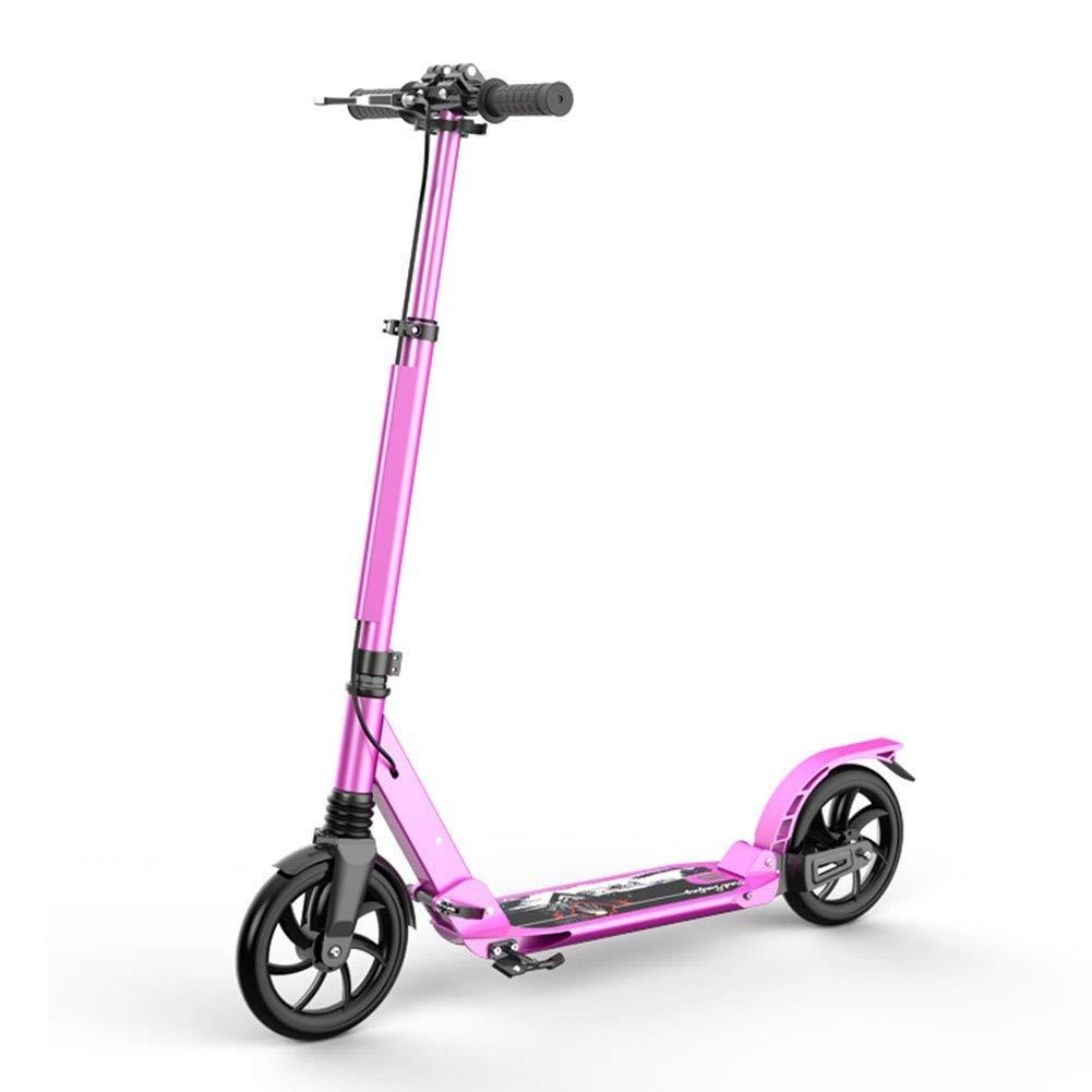 春のコレクション スクーターを蹴る子供たち 大人の二輪車のスクーター、折りたたみスクーター (色 : (色 ピンク : ピンク) B07R52JRQP ピンク, オオサカサヤマシ:18fa8978 --- 4x4.lt