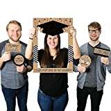 Big Dot of Happiness Bright Future - 2018 Graduation Party Selfie Photo Booth Picture Frame & Props - Printed on Sturdy Material
