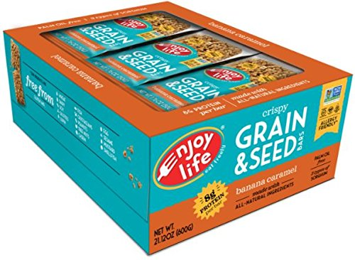Enjoy Life Foods - Crispy Grain & Seed Bars Banana Caramel - 12 Bars