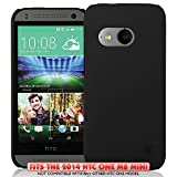 KAYSCASE HTC One M8 Mini (HTC One+ Mini,HTC One Mini Remix, HTC ONE 2 Mini) Slim Hard Shell Cover Case, 2014 Version (Lifetime Warranty) (Black)