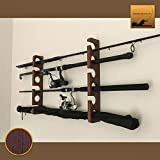 Wooden Fishing Rod Rack/Holder – Wall mount (Oak – Limited Edition) For Sale