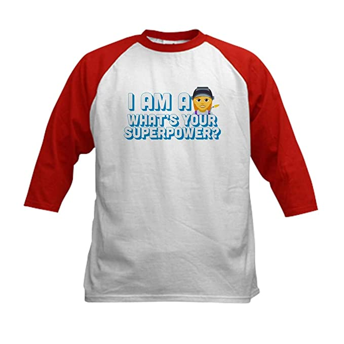 8f1e04b5f Amazon.com: CafePress I Am A Welder What's Your Superp Kids Jersey: Clothing