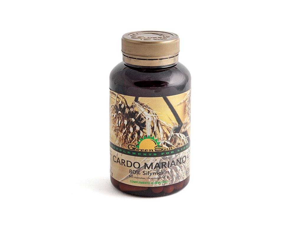 GREEN SUN - Cardo Mariano 80% Silymarina 60Cap: Amazon.es: Salud y cuidado personal