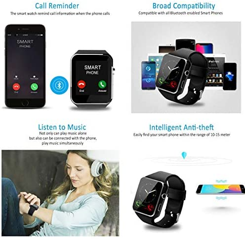 Smart Watch for Android Phones,Smartwatch for Men Women,Smart Watches with Camera Bluetooth Watch with SIM Card Slot Cell Phone Watch Smartwatch for Android Samsung Phone iOS XS X8 10 11 51rx4K9i1RL