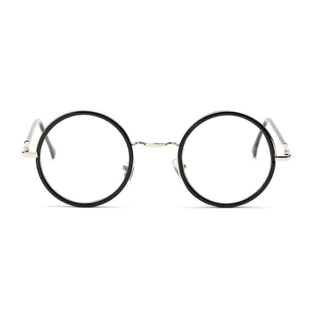 Zhhlaixing raffinatezza Vintage Round Eyeglasses Frame Glasses Full Frame GY-8104 Unisex Delicate ond9lgOI