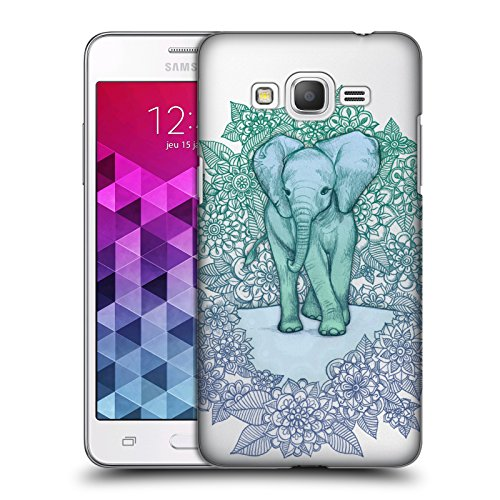 Official Micklyn Le Feuvre Little Blue Elephant Animals 2 Hard Back Case for Samsung Galaxy Grand Prime
