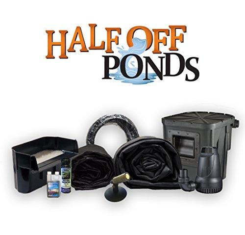 Half Off Ponds SA0 - Small Atlantic Pond Kit w/ 15' x 20' LifeGuard Pond Liner, 3,300 GPH Pump, 16