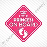 Little Princess On Board Vinyl Decal Bumper Sticker Baby Girl Sticker Car Truck Van Window Sticker Self Adhesive Vinyl Car Sticker