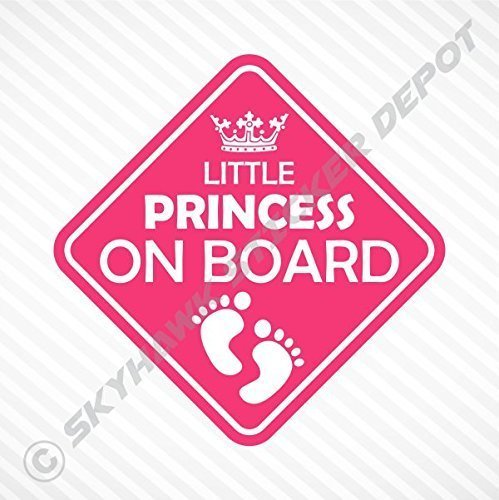 Little princess on board vinyl decal bumper sticker baby girl sticker car truck van window sticker