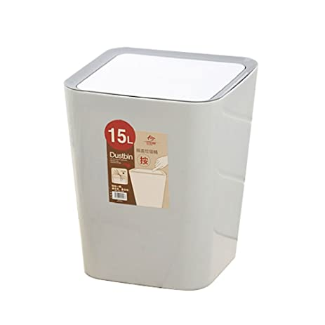 Creative Kitchen Trash Can Square Trash Can Sitting Room Trash Bins Bedroom  Waste Container With Swing