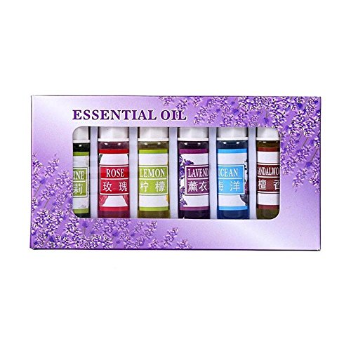Aromatherapy Essential Oil, niceEshop(TM) Water Soluble Natural Plant Essential Oil Pure Fragrance for Aromatherapy Lamp Humidifier Oxygen Bar Wardrobe, 5ML, 6 (Lavender Oil Lamp)