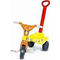 Triciclo Galinha Amarelinha Com Empurrador