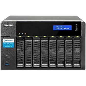 Qnap TVS-871T-i7 8-Bay Thunderbolt 2 DAS/NAS/iSCSI IP-SAN Solution (TVS-871T-i7-16G-US)
