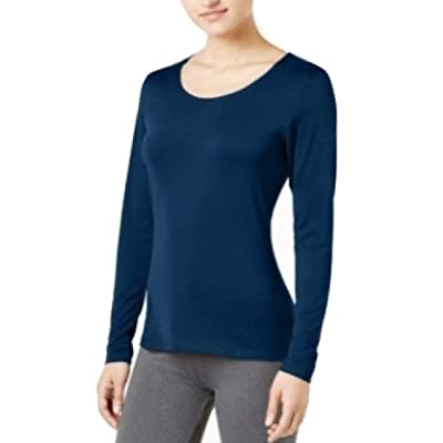32 DEGREES Cozy Heat Long-Sleeve Top Stormy Night Size Xx-Large at Amazon Women's Clothing store