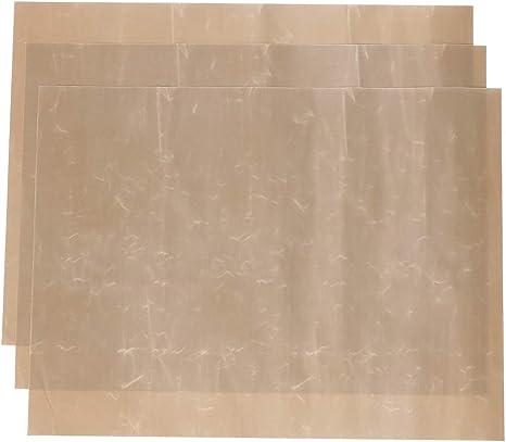 STOBOK Revestimiento de horno antiadherente reutilizable de 3 piezas estera derrames de horno hornear caf/é papel de cocina accesorios de cocina