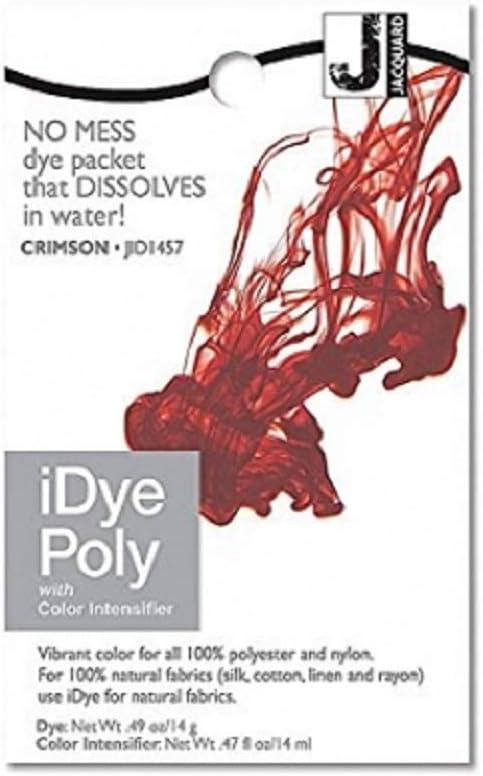 Jacquard iDye Poly - Tinte de tejidos para poliéster y nailon (vario colores disponibles) - Carmesí