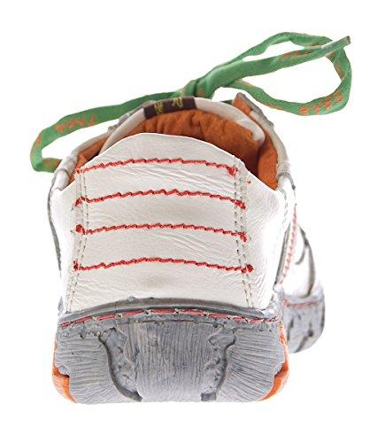 ... TMA Comfort Damen Leder Schuhe Schnürer 4181 Sneakers Schwarz Weiß Rot  Grün Turnschuhe Halbschuhe Weiß ... 91a5b2643f