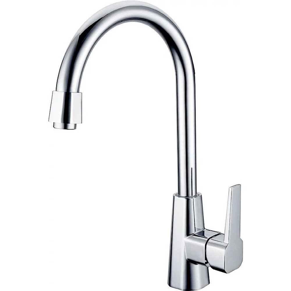 KRUDE Single Handle Stainless Steel High Arc Kitchen Faucet,Single Lever Polished Chrome Pull Out Kitchen Sink Faucet