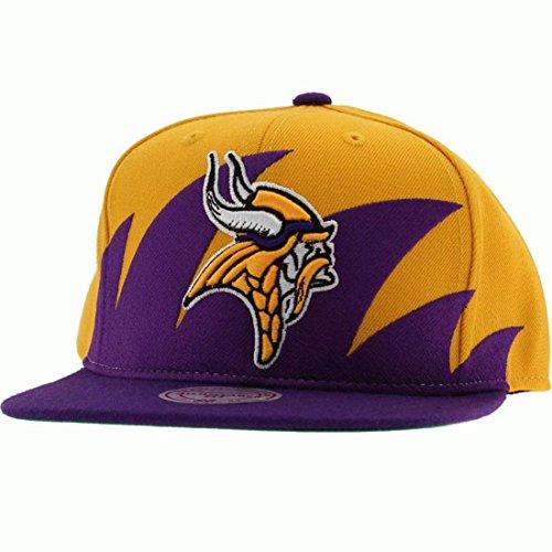 buy online e2982 8617e NFL Mitchell & Ness Minnesota Vikings Sharktooth Snapback Hat