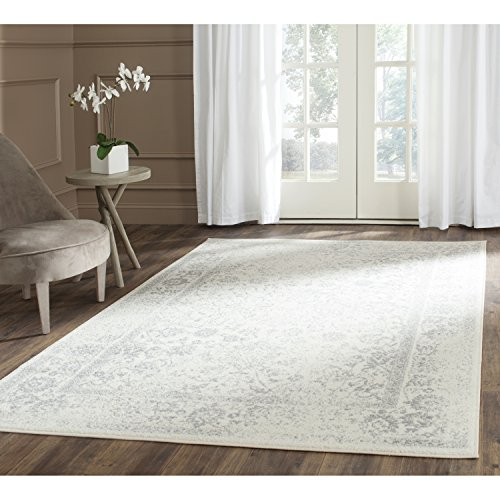 Safavieh Adirondack Collection ADR109C Ivory and Silver Oriental Vintage Area Rug (6' x - White Area Rug