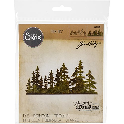 Sizzix, Multi Color, Thinlits Die 661604, Tree Line by Tim Holtz, One Size