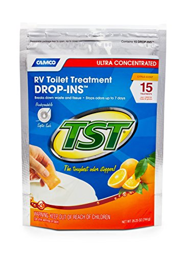 Camco-TST-Ultra-Concentrated-Orange-Citrus-Scent-RV-Toilet-Treatment-Drop-Ins-Formaldehyde-Free-Breaks-Down-Waste-And-Tissue-Septic-Tank-Safe-15-Pack-41189