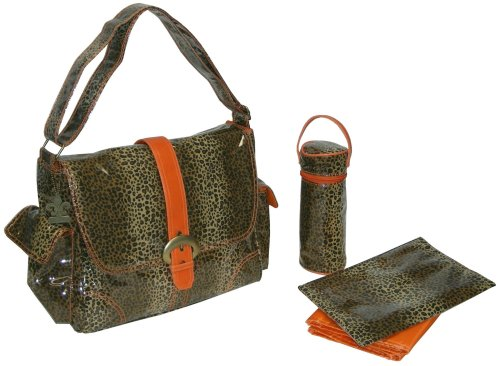 Kalencom Laminated Tucson Mall Buckle Orange Cheetah Bag Baltimore Mall