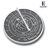 NAUTICALMART Looking For The Best 10th Tin Wedding Anniversary Gift? This Unique Sundial Gift Idea Is A Great Present For Him, For Her Or For A Couple To Celebrate (10th - Tin)