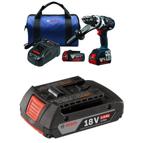 Bosch DDH183-01 18V Lithium-Ion Brushless Brute Tough 1/2 inch Drill/Driver Kit with 2.0 AH battery