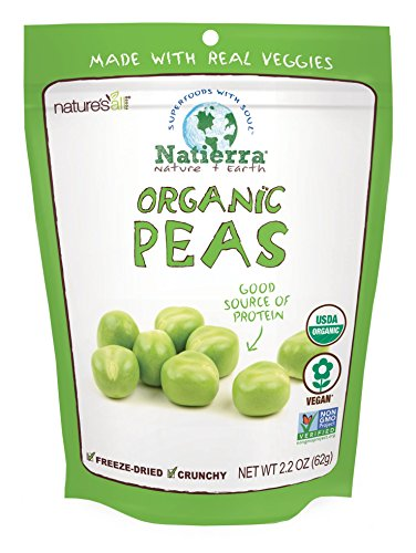 Natierra Nature's All Foods Organic Freeze-Dried and Crunchy, Peas Flavor, 2.2 Oz
